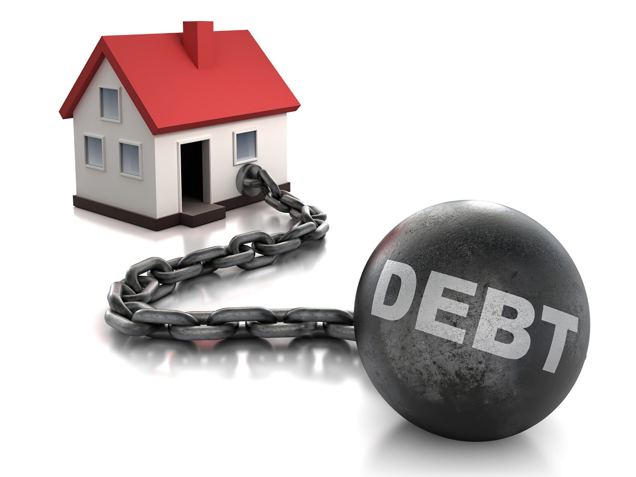 house with debt photo