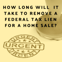 timeline fed tax lien removal