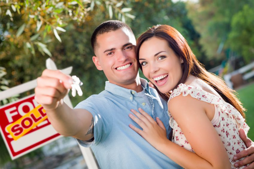 excited home buyers