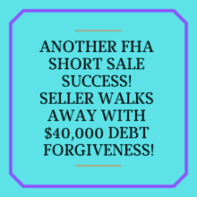 fha short sale success